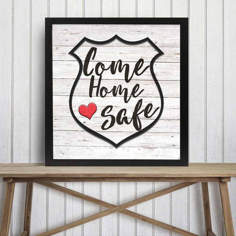 COME HOME SAFE DECORATIVE METAL WALL ART
