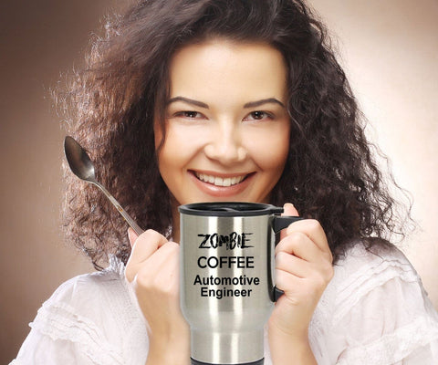 Automotive Engineer Zombie Stainless Steel Insulated Travel Coffee Mug