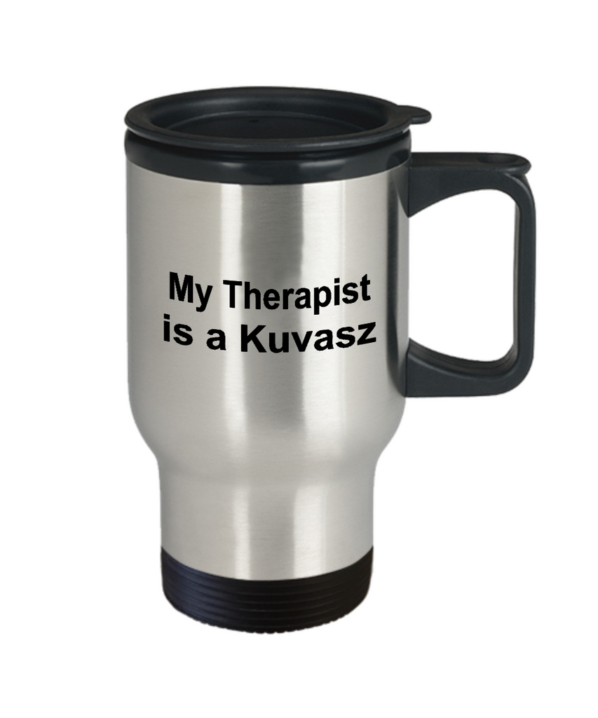 Kuvasz Dog Owner Lover Funny Gift Therapist Stainless Steel Insulated Travel Coffee Mug