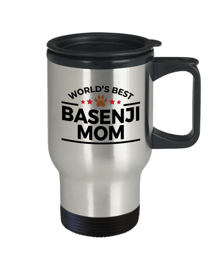 Basenji Dog Mom Travel Coffee Mug