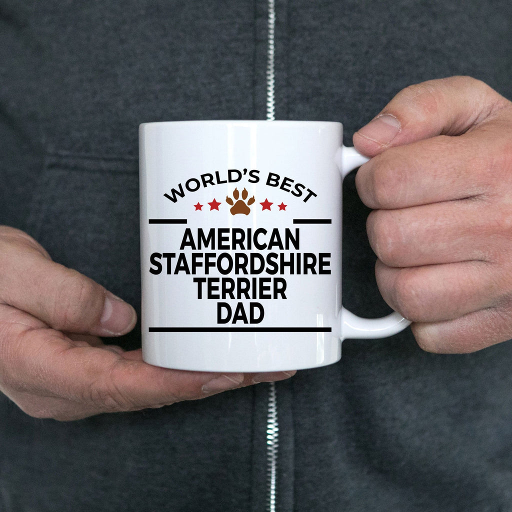 American Staffordshire Terrier Dog Dad Coffee Mug