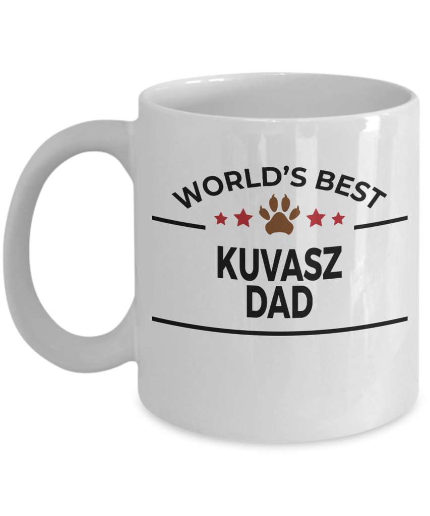 Kuvasz Dog Lover Gift World's Best Dad Birthday Father's Day White Ceramic Coffee Mug