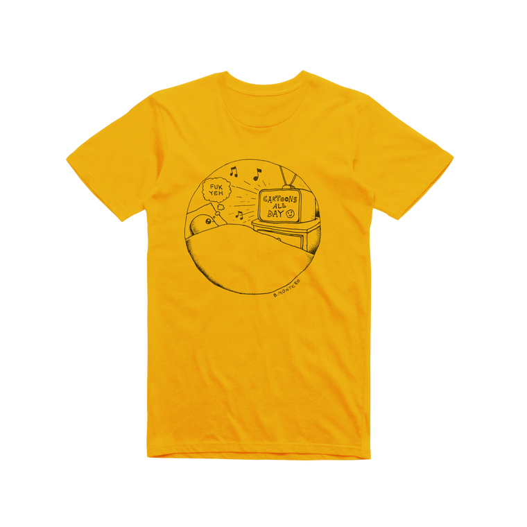 Cartoons Are Starting / Gold T-shirt