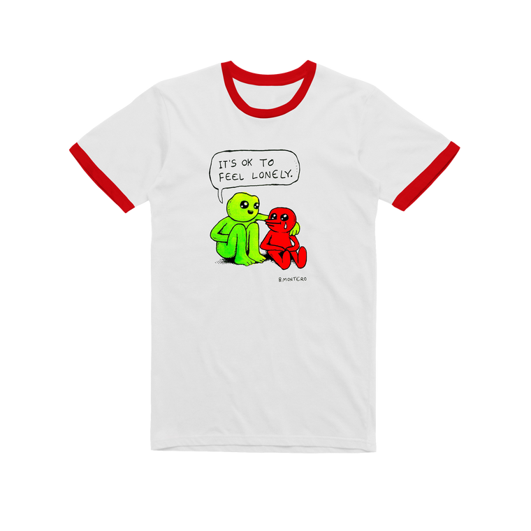 Lonely / Red Ringer T-shirt