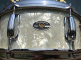 1970's Slingerland 5.5x14 Hollywood Ace White Marine Pearl Snare Drum