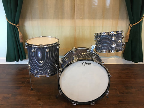 1960s Camco Aristocrat Oaklawn Charcoal Moire Drum Set 22/12/16
