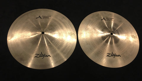 "13"" Zildjian A Armand Hi Hat Cymbals - No Longer Made - 868/1068g"