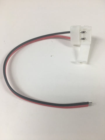 12V Strip Light Connector, 2PIN Single Color Single End