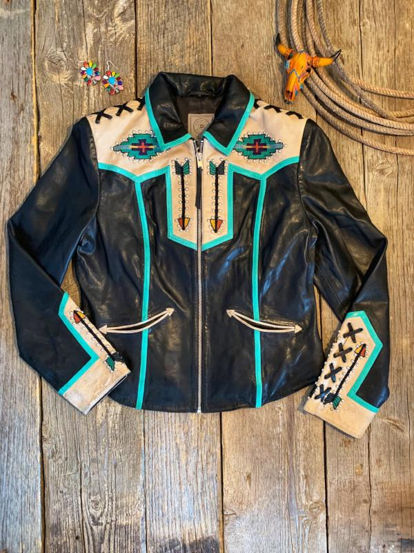 Wild Feather: Leather Jacket