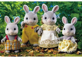 Sylvanian Families Cottontail Rabbit Family - SF 4030