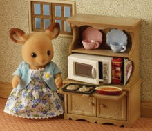 Sylvanian Families Welsh Dresser with Microwave kichen furniture