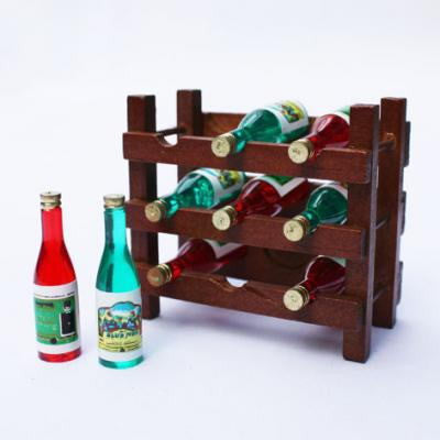 Miniature Dolls house win rack bottles Chrismtas Sylvanian Families