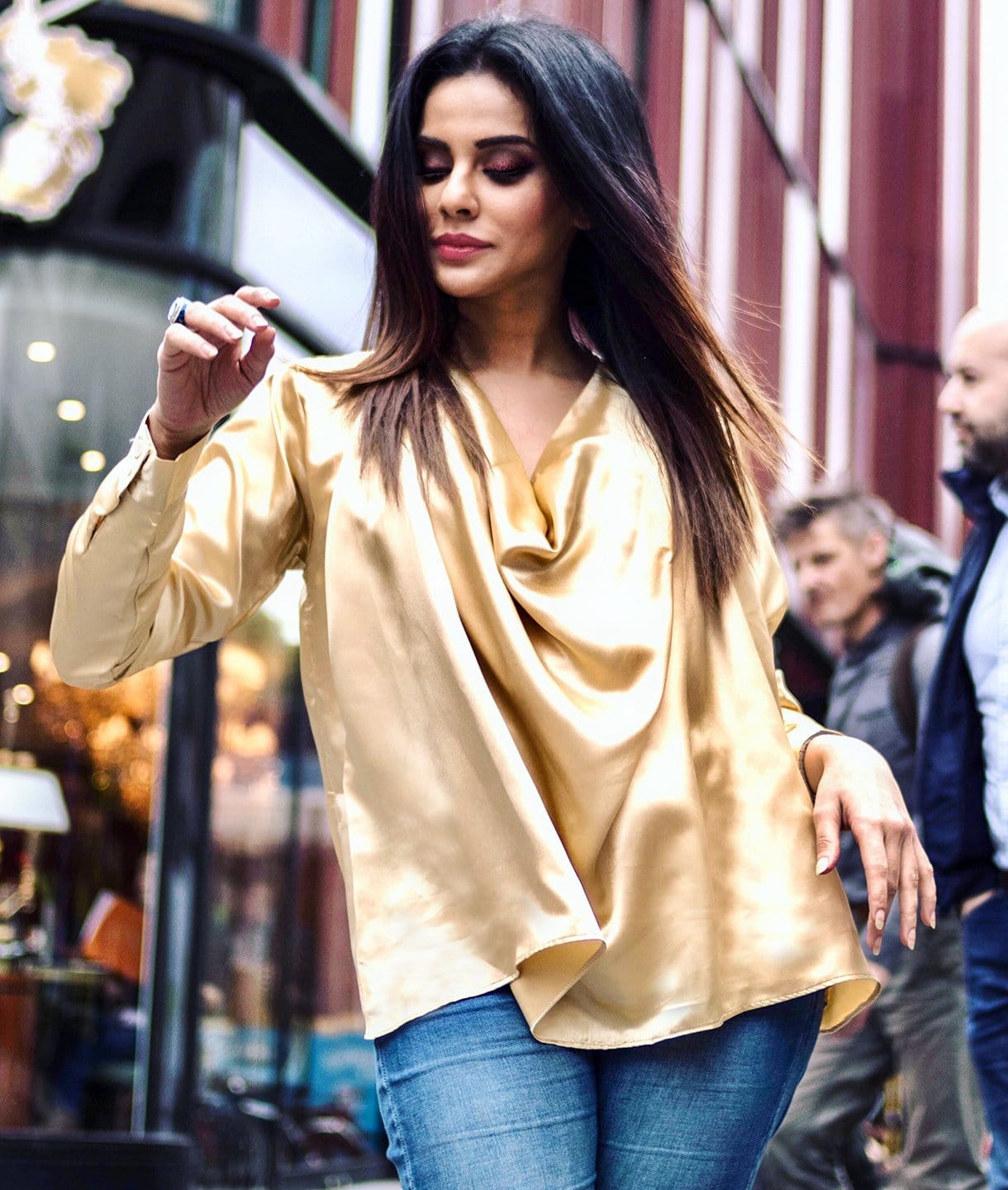 Solid Gold Satin Top. BUY 1 GET 3
