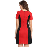 Solid Red Cotton Bodycon Dress - Uptownie