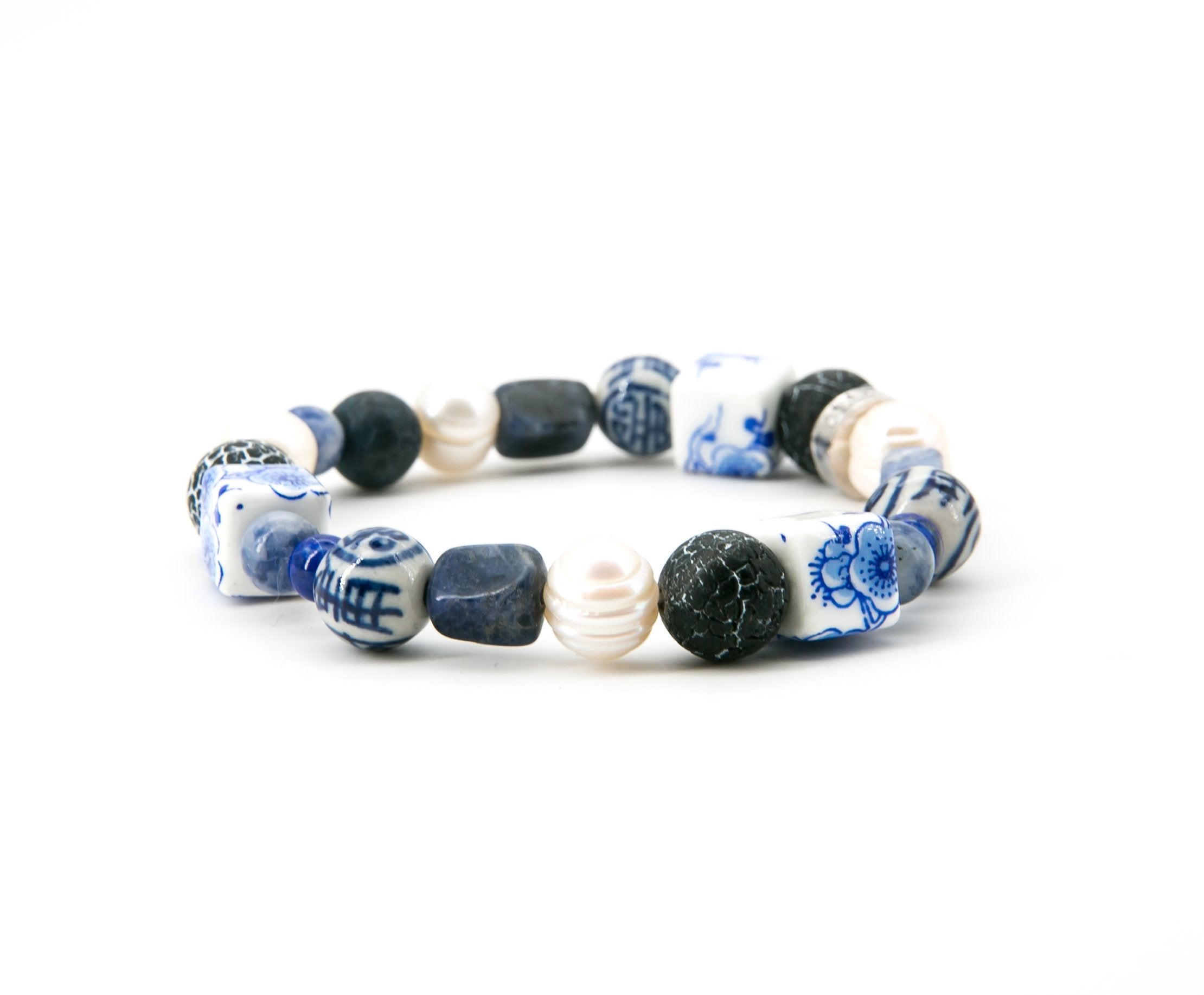 China Blue Ceramic Bracelet | Stones that Rock