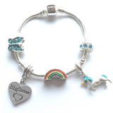 unicorn big sister bracelet with charms and beads