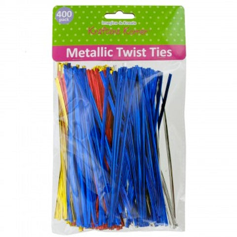 Metallic Twist Ties 400 Pack