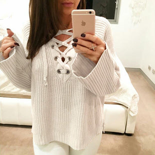 Adele Lace-Up Sweater