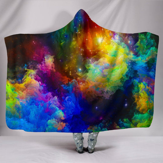 Colorful Universe Hooded Blanket