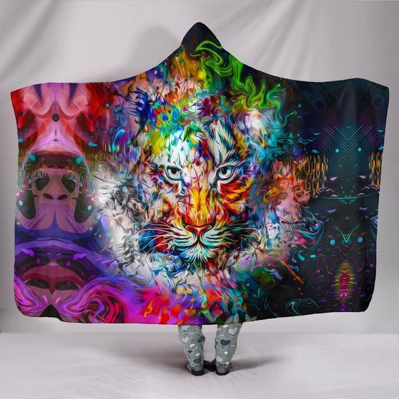 Wild Tiger Hooded Blanket