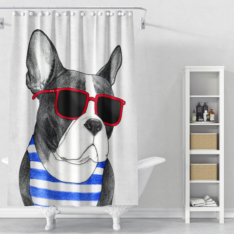 Cortina de Baño Frenchie Summer Style