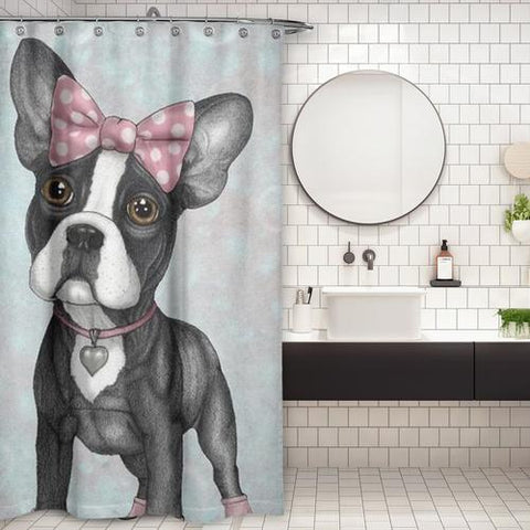 Cortina de Baño Sweet Frenchie