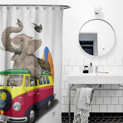Cortina de baño Pack the Trunk (Wordless)