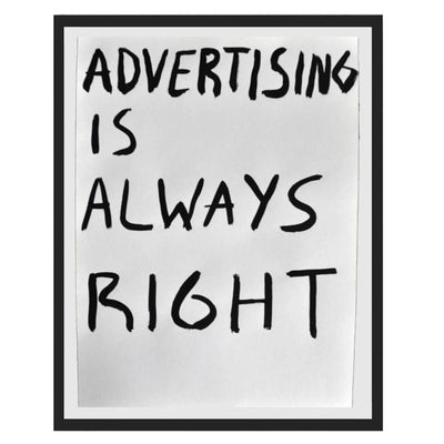 Pintura Juan Uribe - Advertising is always right