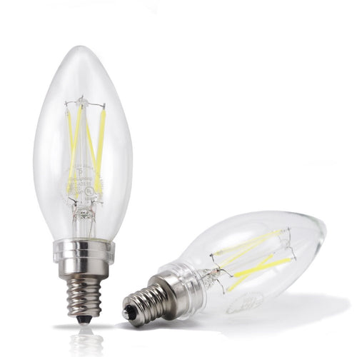 eTopLighting |2-Pack| 40W 120V Candelabra Dimmable LED Bulb with E12 Base, 6500K Daylight Cool White, APL1667