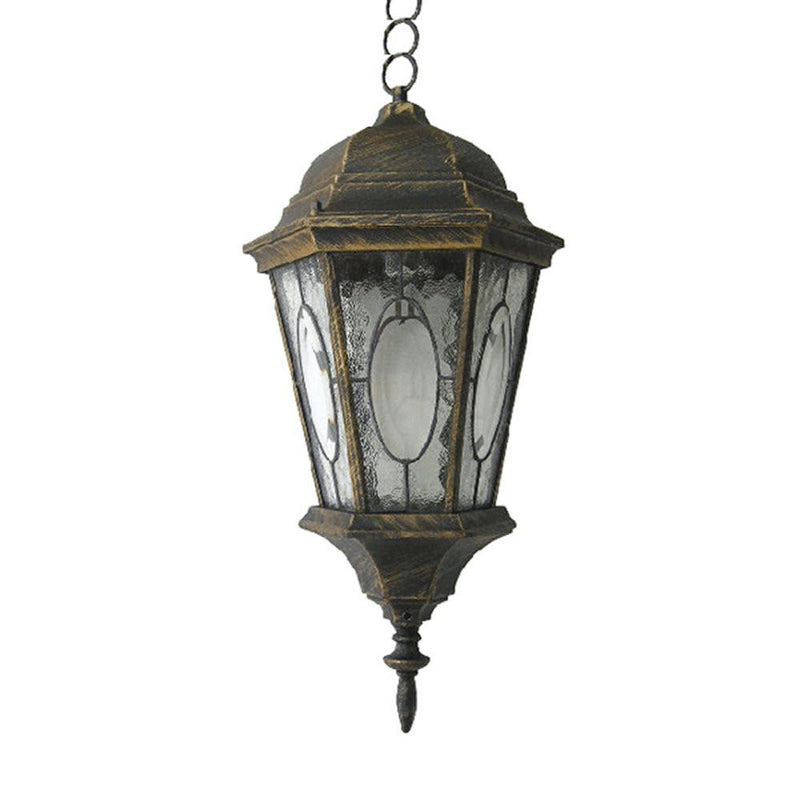 Venus Collection Pendant Lantern with Mosaic Glass