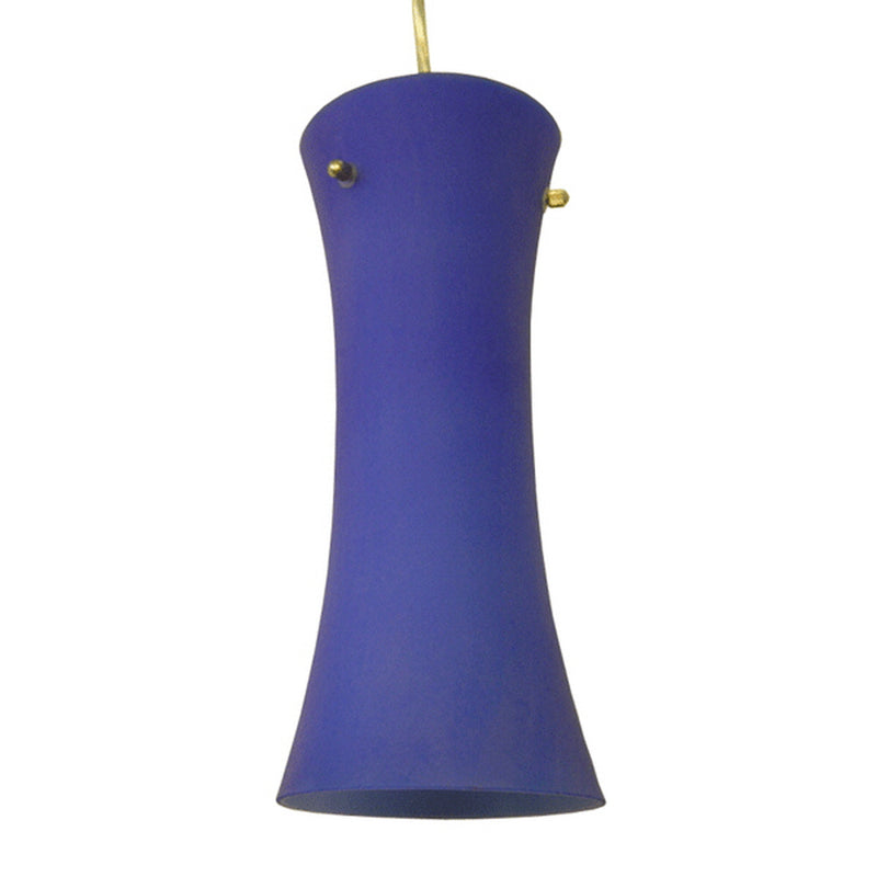 Serena Collection One Light Cobalt Blue Hanging Pendant Lamp