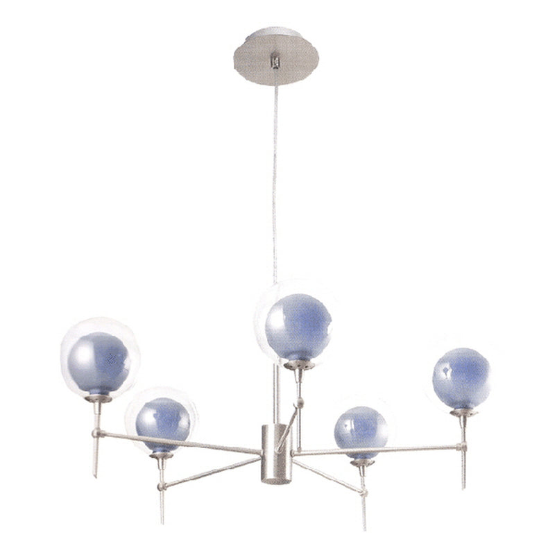 Lo Spasso Collection Five Light Hanging Pendant Light