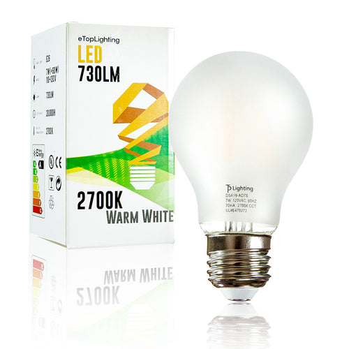 (1 Pack) E26 Medium Base, Frost A19 LED Light Bulb, 2700K 730 Lumen, 60 Watt Replacement, Warm White
