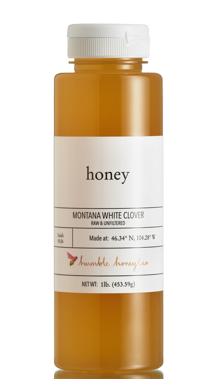 Montana White Clover Honey Raw and Unfiltered