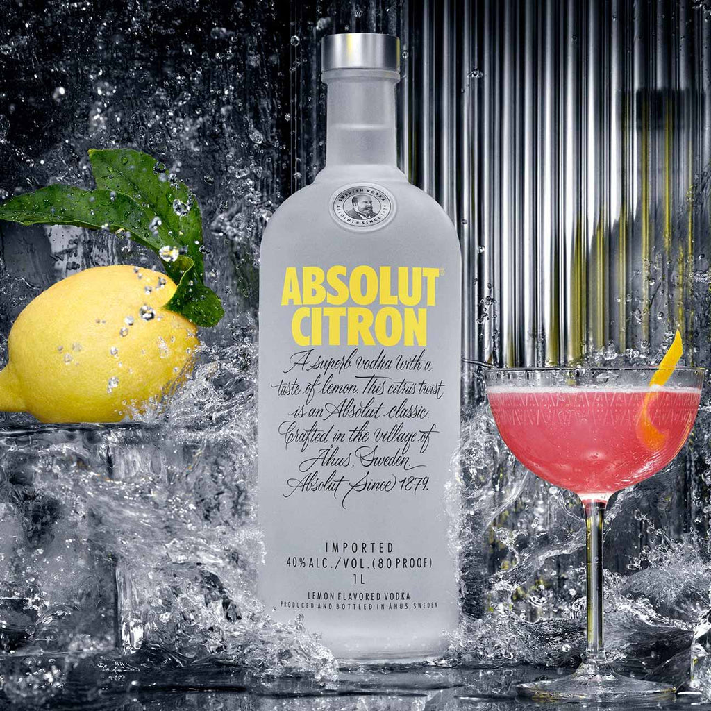 Absolut Citron Vodka 750mL