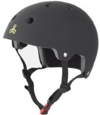 Triple 8 Certified Helmet Black Rubber