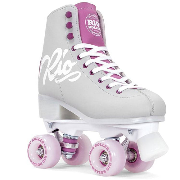 Rio Script Roller Skates Grey and Purple