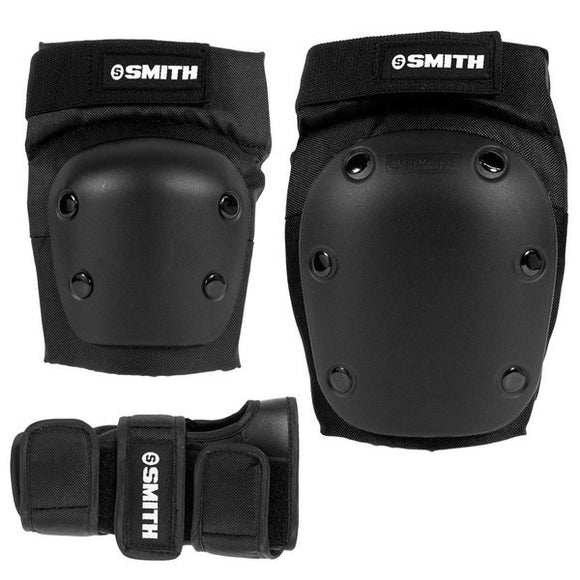 Smith Scabs Tri Pack Adult (knee, elbow, wrist) Black