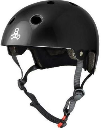 Triple 8 Certified Helmet All Black Gloss