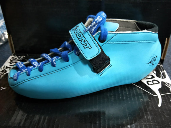 Bont Hybrid Durolite Carbon Light Blue Boot Size 6