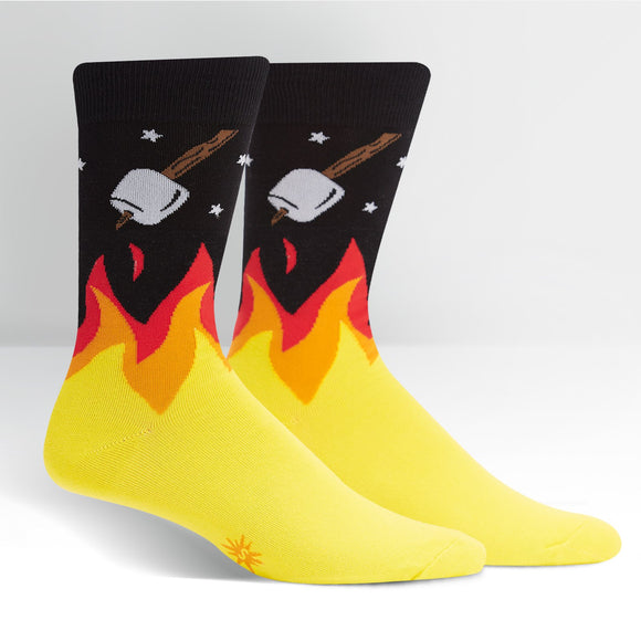 Sock it to Me S'more To Love Mens Crew Socks