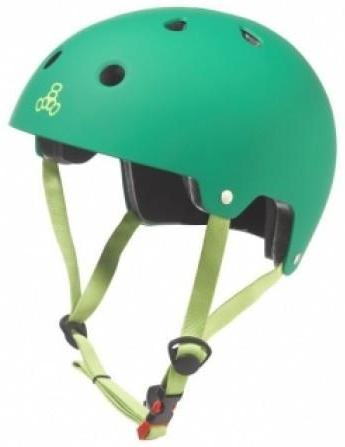 Triple 8 Certified Helmet Kelly Green Rubber