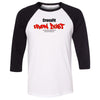 CrossFit Iron Dust - 100 - Standard - Bella + Canvas - Men's Three-Quarter Sleeve Baseball T-Shirt