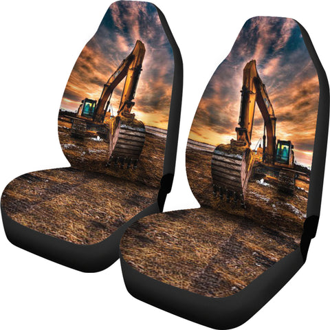 Image of Best Man Heavy CAT Excavator Car Seat Covers