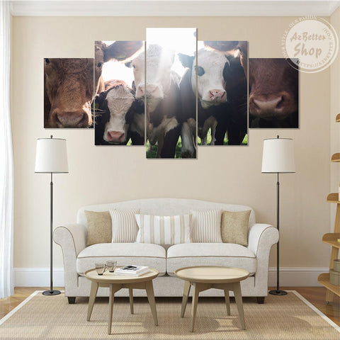 Farmer Cow Beef Cattle Canvas