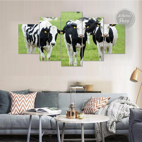 Image of Farmer Holstein Cow Canvas