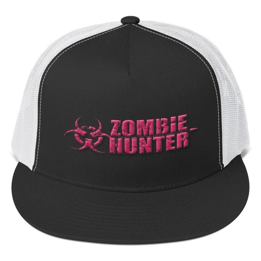 Zombie Hunter Pink Embroidered Trucker Cap