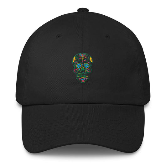 Sugar Skull Embroidered Cotton Cap