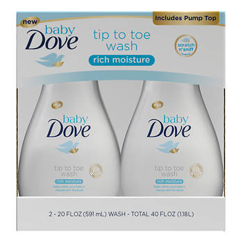 Baby Dove Rich Moisture Wash, 20 oz - 2 pack