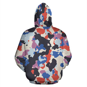 Camouflage Colorful Camo Urban All Over Zip-Up Hoodie